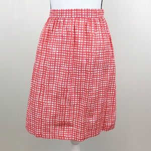 Tommy Hilfiger Coral White Square Print Skirt